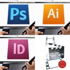 Photoshop, Illustrator, Indesign, Audio-Video für das Web